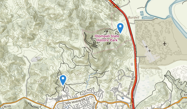 Olompali State Historic Park Map