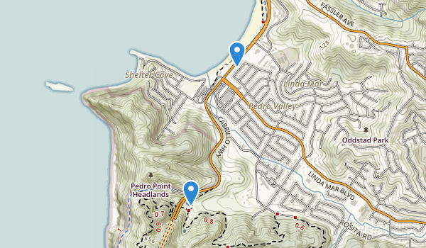 trail locations for Pacifica State Beach