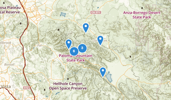 trail locations for Palomar Mountain State Park