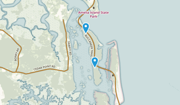 Big Talbot Island State Park Map