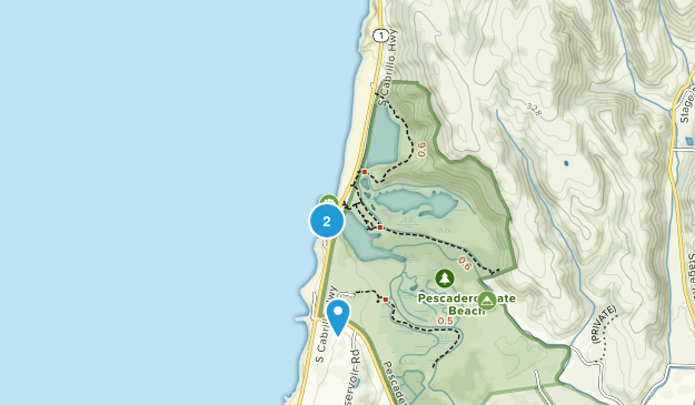 Pescadero State Beach Map
