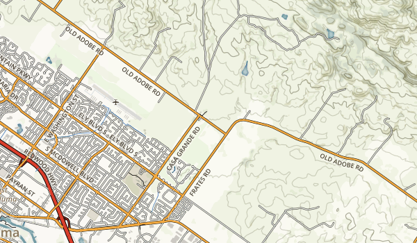 Petaluma Adobe State Historic Park Map