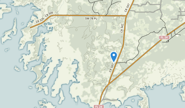 trail locations for Cedar Key Scrub State Reserve
