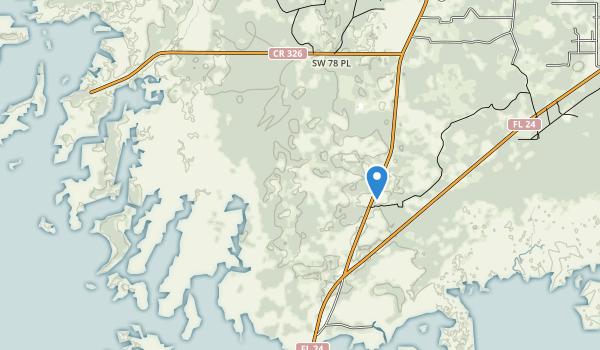 Cedar Key Scrub State Reserve Map