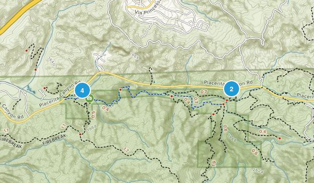 Placerita Canyon State Park Map
