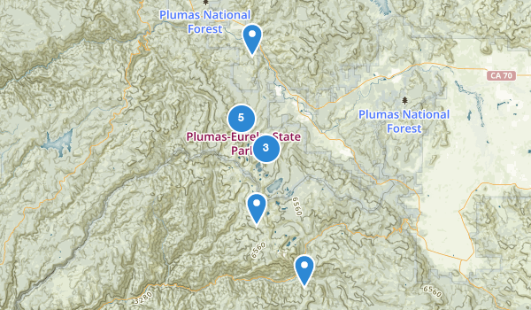 trail locations for Plumas-Eureka State Park
