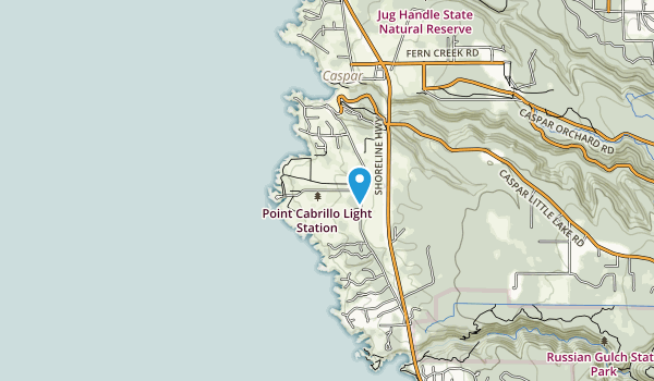 Point Cabrillo Light Station State Historic Park Map