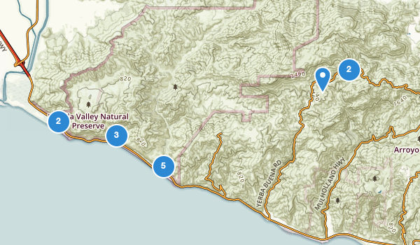 trail locations for Point Mugu State Park