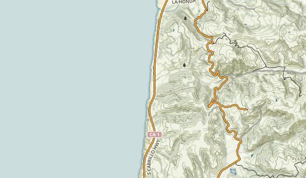 Pomponio State Beach Map