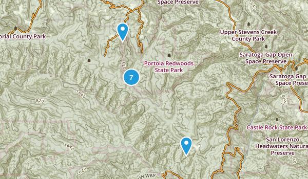Portola Redwoods State Park Map