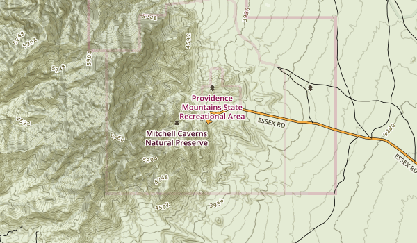 Providence Mountains State Recreation Area Map