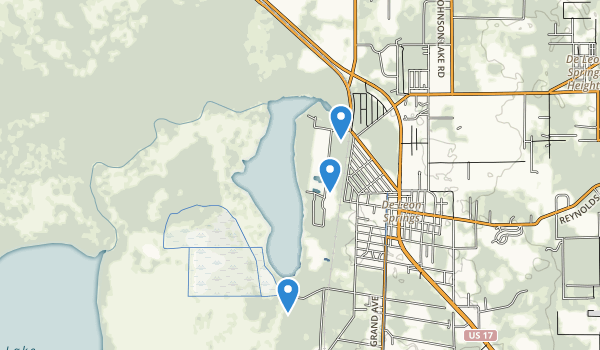 trail locations for De Leon Springs State Park