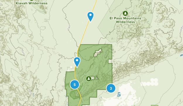 Parque Estatal Red Rock Canyon Map