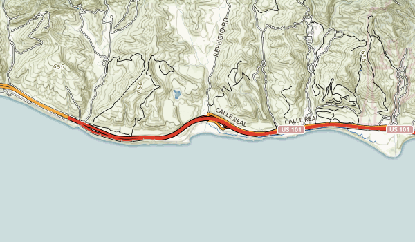 Refugio State Beach Map