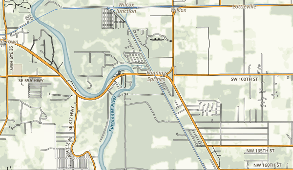Fanning Springs State Park Map