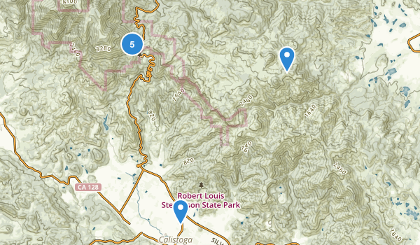 Robert Louis Stevenson State Park Map