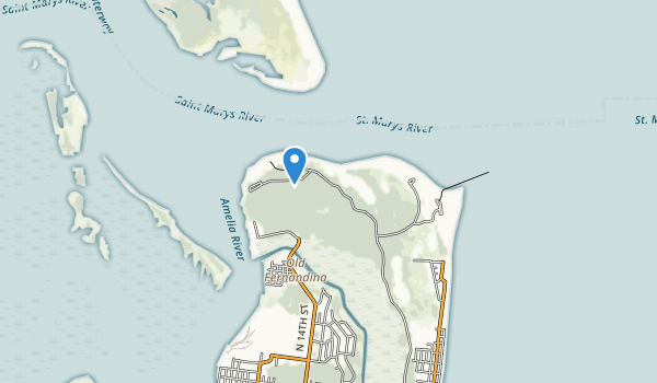 trail locations for Fort Clinch State Park