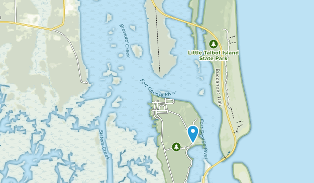 Fort George Island Cultural State Park Map
