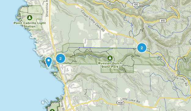 Russian Gulch State Park Map