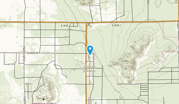 Saddleback Butte State Park Map