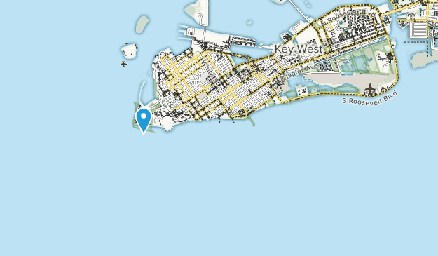 Fort Zachary Taylor Historic State Park Map