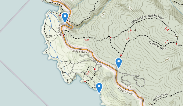 trail locations for Salt Point State Park