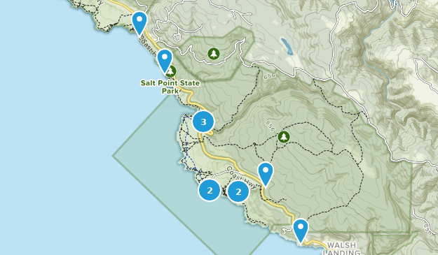 Parque Estatal Salt Point Map