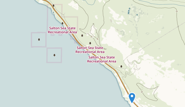 Salton Sea State Recreation Area Map