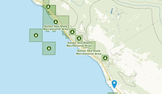 Área recreativa estatal de Salton Sea Map