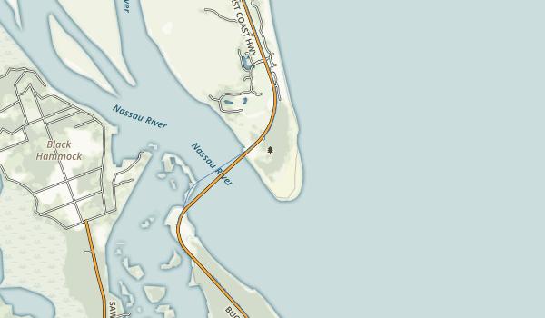 George Crady Bridge Fishing Pier Map