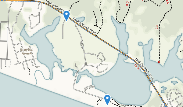 trail locations for Grayton Beach State Park