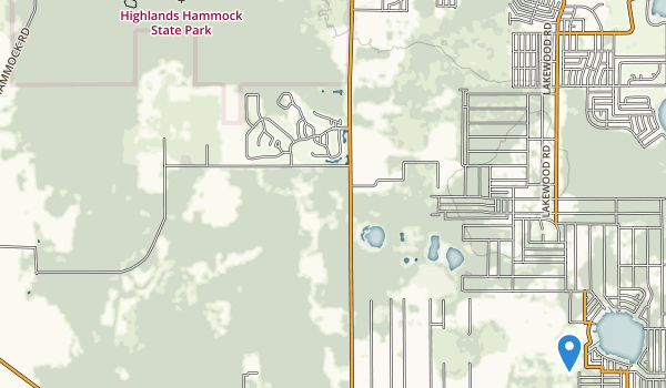 trail locations for Highlands Hammock State Park