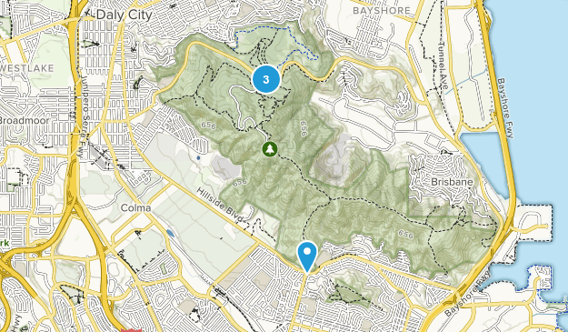 San Bruno Mountain State Park Map