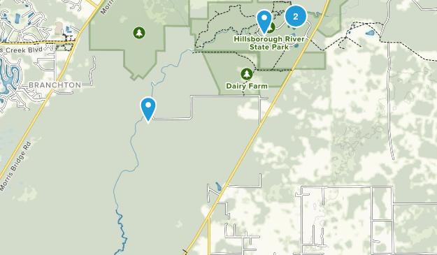 Hillsborough River State Park Map