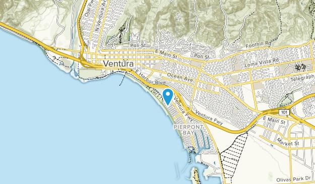 San Buenaventura State Beach Map
