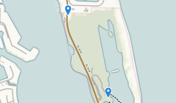 trail locations for John D. MacArthur Beach State Park