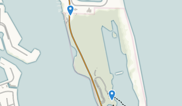trail locations for John D. MacArthur Beach State Park