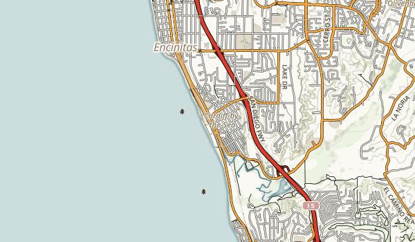 San Elijo State Beach Map