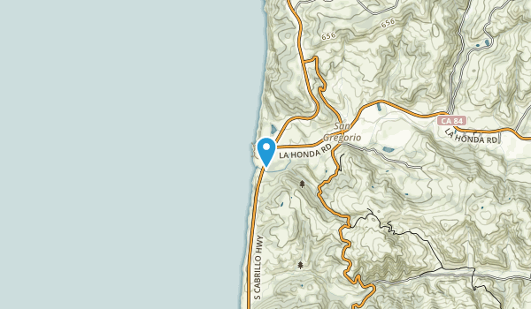 San Gregorio State Beach Map