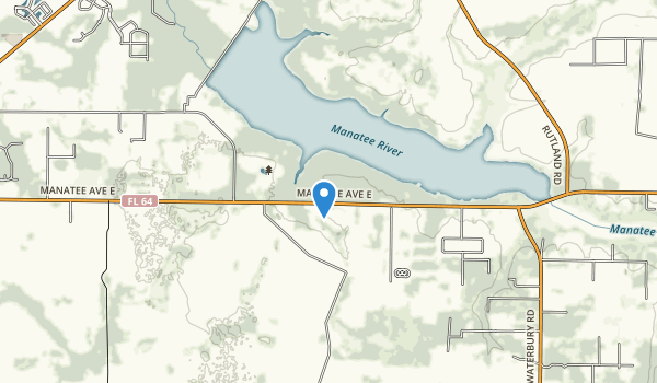 trail locations for Lake Manatee State Park