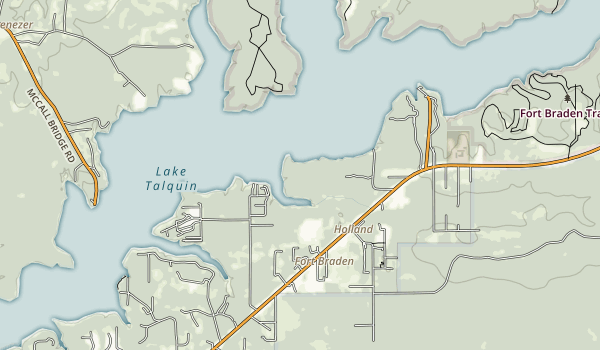 Lake Talquin State Park Map