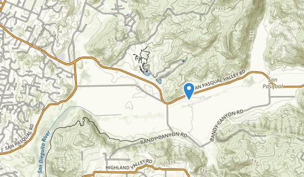 trail locations for San Pasqual Battlefield State Historic Park