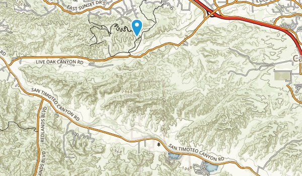 San Timoteo Canyon Map