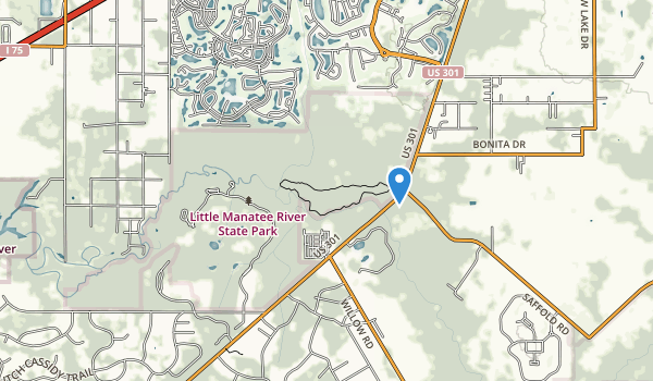 trail locations for Little Manatee River State Park