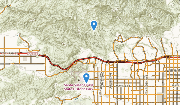 trail locations for Santa Susana Pass State Historic Park