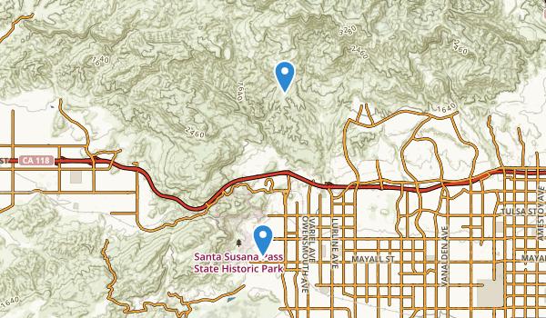 Santa Susana Pass State Historic Park Map