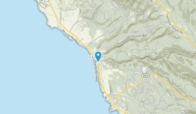 Schoner Gulch State Beach Map