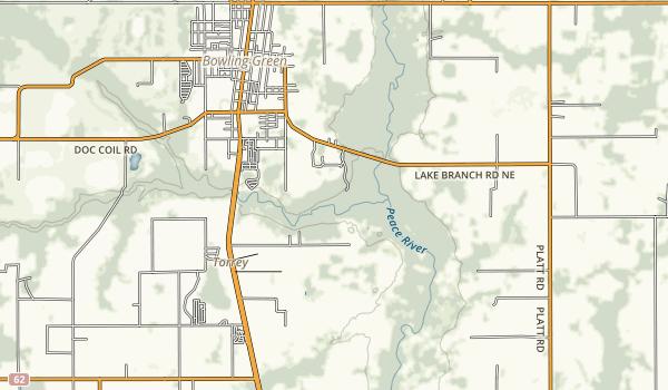 Paynes Creek Historic State Park Map