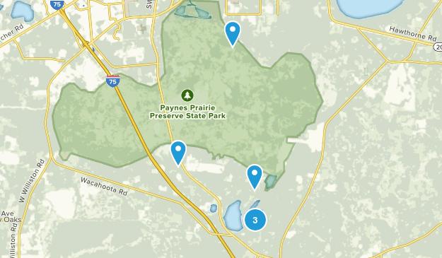 Paynes Prairie Preserve State Park Map