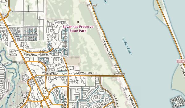 Savannas Preserve State Park Map